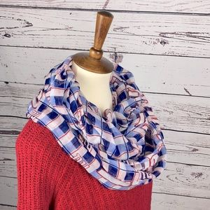 NY Giants Soft Red, White, & Blue Infinity Scarf